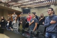 """Gli studenti del """"Vecchi"""" in visita al Consiglio regionale"""