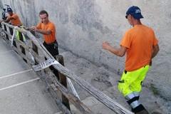 Ripristinato il corrimano delvialetto di Colonna dopo l'atto vandalico