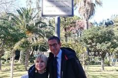 Laura Escalada in Villa per inaugurare la targa dedicata a suo marito Astor Piazzolla