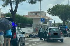 Incidente a Capirro, auto contro moto e traffico bloccato