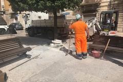 Trani, in piazza Longobardi torna la fontana: avviati i lavori