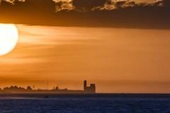 Da Giovinazzo lo spettacolo della Cattedrale di Trani al tramonto