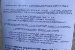 """""""Chi non è residente deve lasciare il condominio"""", a Trani truffa con falsi volantini"""