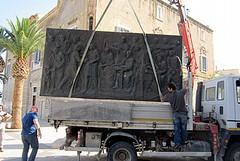 Il bassorilievo degli Statuti Marittimi va a Roma