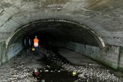 Ispezioni nei canali alluvionali di fogna bianca in città: nessuna criticità