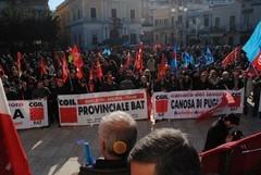 Sciopero 12 dicembre: mille in corteo a Canosa