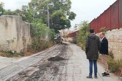 Lavori di rifacimento del manto stradale