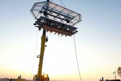 """Mangiare a 50 metri di altezza, a Trani arriva """"Dinner in the sky"""""""