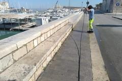 Rifiuti sul Porto, interviene Amiu: strade ripulite e lavate