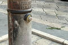 Piazza Sant'Agostino, niente acqua