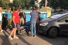 Scontro auto-scooter in via Corato, traffico in tilt