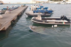Porto di Trani, affonda una piccola imbarcazione da pesca