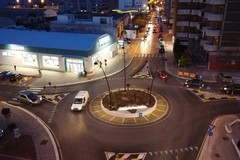 Nuova rotonda di via Barletta, entra in funzione l'impianto d'illuminazione con proiettori a led