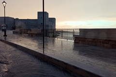 Pioggia e vento, allerta meteo gialla a Trani