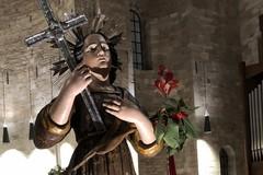 L'antica effigie di San Nicola Pellegrino oggi trasferita in Cattedrale