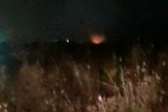 Aria irrespirabile ieri sera a Trani per incendi di rifiuti tossici