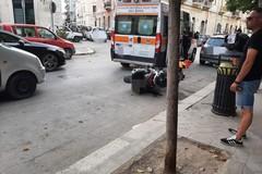 Incidente in via Mario Pagano: ferito lievemente un motociclista