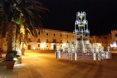 Festa patronale a Trani, ecco l'anteprima della fontana luminosa in piazza Quercia