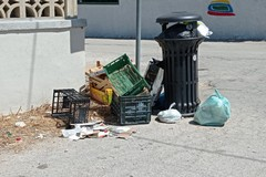 Cumuli di rifiuti in via di Villa Friuli, i residenti: «Amiu non pulisce da una settimana»