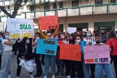 Sciopero al Liceo De Sanctis