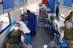 Donazione di sangue straordinaria al 9° reggimento Bari