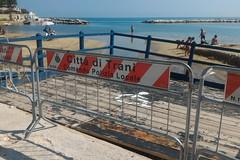 Cede la pedana per disabili sulla spiaggia di Colonna