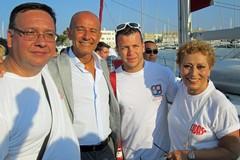 A Trani la barca della Fidas. Festa per Scarpa