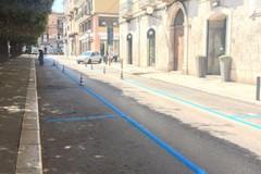 """Strisce blu, in piazza della Repubblica eseguito il """"ripasso"""""""