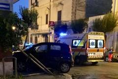 Violento impatto nella notte su corso Vittorio Emanuele, due auto coinvolte
