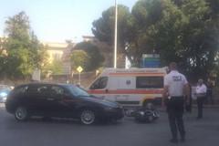 Incidente su corso Imbriani: ferito il conducente dello scooter
