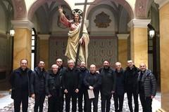 Nuovo vescovo, una delegazione diocesana in visita da don Leonardo D'Ascenzo