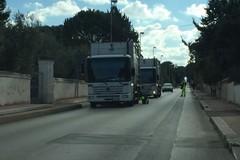 Camion dell'Amiu si blocca in via Annibale Maria di Francia, rallentamenti nella circolazione