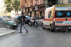 Scontro auto-scooter all'incrocio di via Imbriani con via Istria, un ferito