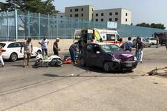 Auto contro scooter in via Andria: ferito un 35enne tranese