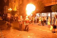 Settimana medioevale. il gran finale con l'incendio del castello