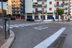 Strisce pedonali e segnaletica orizzontale, via Barletta si rifà il look