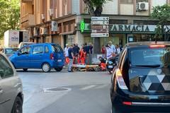 Scontro tra auto e moto in Corso Imbriani: un ferito