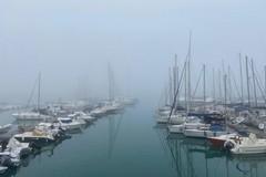 Un risveglio insolito: Trani immersa nella nebbia