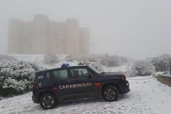 Arriva la neve in Puglia, ecco Castel del Monte imbiancato