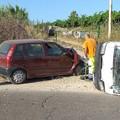 Incidente sulla Trani-Bisceglie: coinvolti un'auto ed un mezzo dell'Amiu