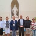 Una delegazione del Comitato Pro Canne della Battaglia e l'Asd del Cammino in visita dall'Arcivescovo