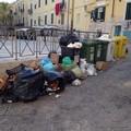 Piazza Teatro colma di rifiuti, il sindaco punta il dito contro gli indisciplinati