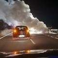 Auto in fiamme sulla 16bis, traffico rallentato tra gli svincoli Trani sud e Bisceglie nord