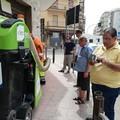Oggi mini spazzatrici elettriche in azione nella zona nord di Trani