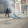 Incendio in via Cilea, il sindaco denuncia pubblicamente l'autore del gesto