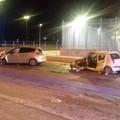 Incidente frontale in via Andria, feriti quattro ragazzi