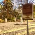 Villa comunale, spuntano cartelli esplicativi delle colonne militari della via Traiana