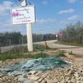 Lastre di vetro abbandonate nei pressi di Via Corato