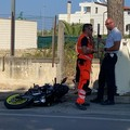 Auto contro moto in via Martiri di Palermo, un ferito