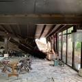 Lampara, crolla una porzione del tetto dopo il violento nubrifagio